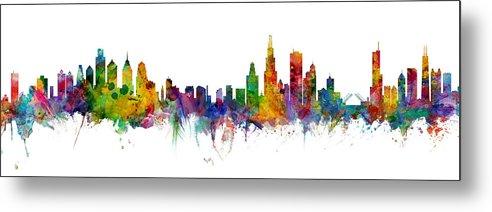 Philadelphia and Chicago Skylines Mashup by Michael Tompsett