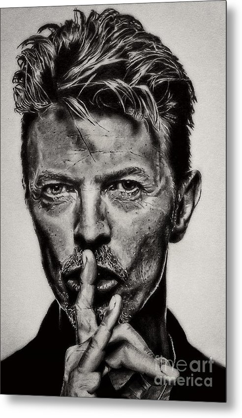 David Bowie - Pencil Abstract by Doc Braham