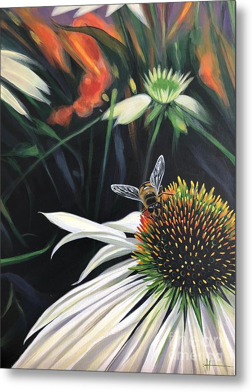 Daisy Metal Print featuring the painting The Honeythief by Hunter Jay