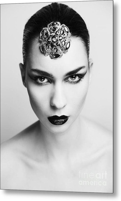 Woman Metal Print featuring the photograph Woman by Roza Sampolinska