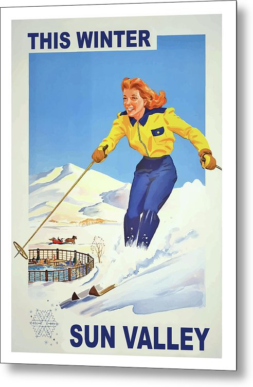Sun Valley, skiing woman by Long Shot