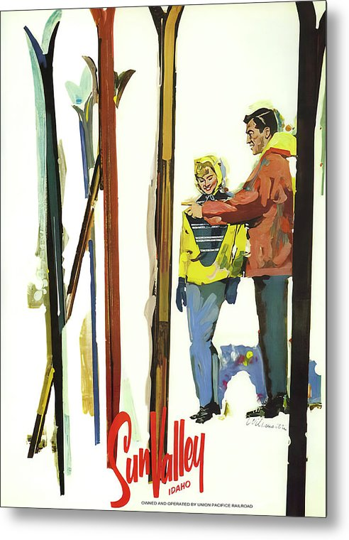Sun Valley Skiing - Vintage Travel 1950 by Daniel Hagerman