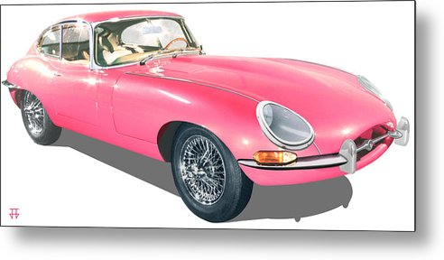 Car Posters Metal Print featuring the digital art Beauty In Pink by Jose Gomis
