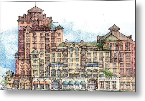 Architecture Metal Print featuring the drawing Study by Andrew Drozdowicz