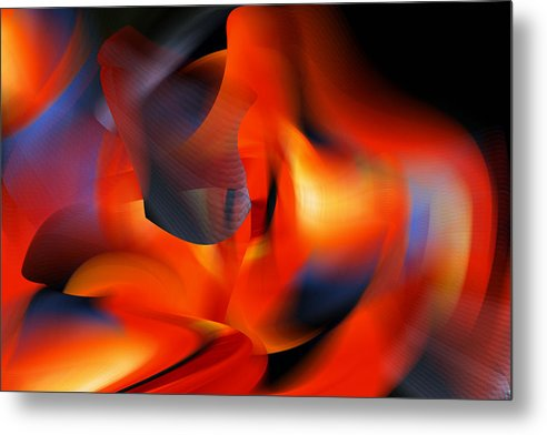 Rd Erickson Metal Print featuring the digital art Wow All That Bright Color by rd Erickson