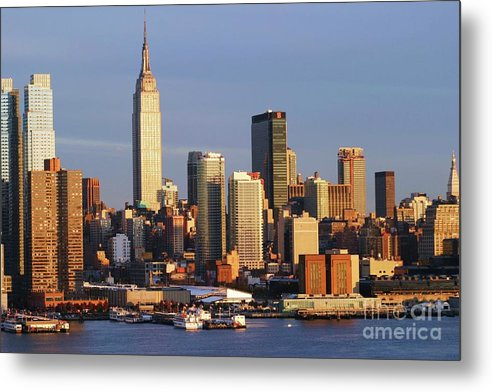 Art Metal Print featuring the photograph Hudson River by Anthony Felix