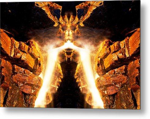 Rock Metal Print featuring the photograph Muskoka Falls 8 by John Bartosik