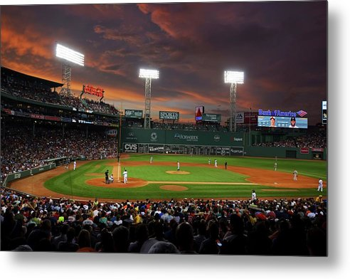 Red Sky Over Fenway Park Boston MA by Toby McGuire