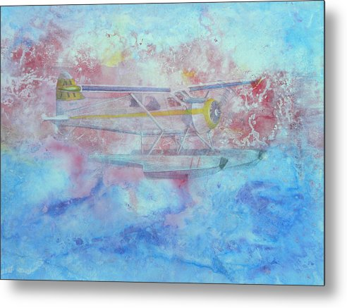 Harbour Air Metal Print featuring the painting Into The Sunset by Rosemary Hayes