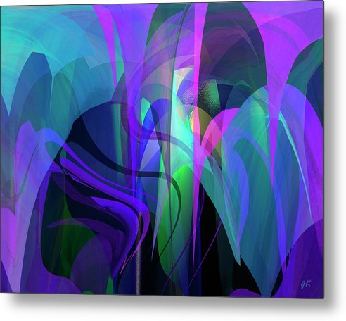 Abstract Metal Print featuring the painting Secrecy by Gerlinde Keating - Galleria GK Keating Associates Inc
