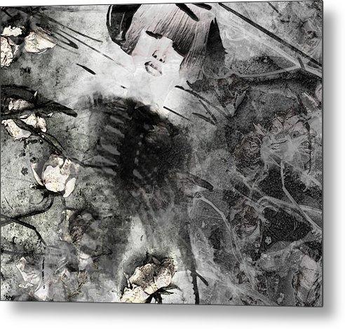 Metal Print featuring the digital art Bones 1 by JadeYu Fhang