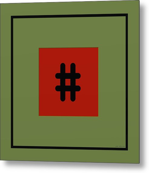 Abstract Metal Print featuring the digital art Opposites 1a by Jan Hillov