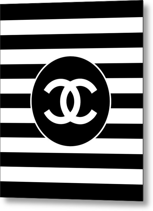 Chanel - Stripe Pattern - Black and White 2 - Fashion and Lifestyle by TUSCAN Afternoon