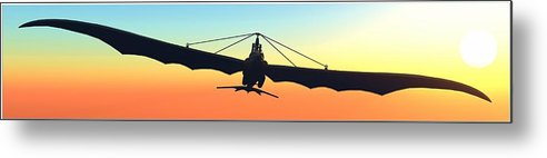 Ornithopter Metal Print featuring the digital art Free... by Tim Fillingim