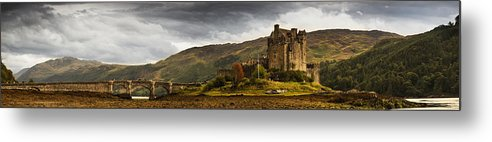 Old Metal Print featuring the photograph Landscape With A Castle On A Hill And A by John Short