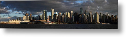 Vancouver Metal Print featuring the photograph Vancouver City Sunset Panorama From Stanley Park by Pierre Leclerc Photography