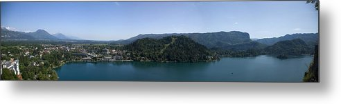 Bled Metal Print featuring the photograph Bled Vista by Alan Pickersgill