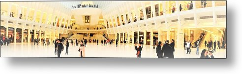 Ew York Metal Print featuring the photograph Panoramic Oculus In New York by Funkpix Photo Hunter