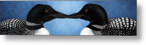 Loons Metal Print featuring the painting Loons by Pat Erickson