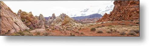 White Domes Trail Metal Print featuring the photograph White Domes Panorama by Debby Richards