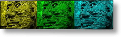 Architecture Metal Print featuring the photograph Gentle Giants In Colors by Rob Hans