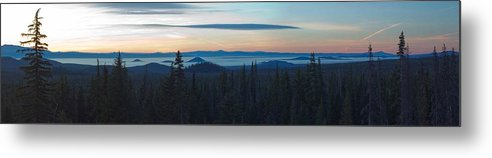 Oregon Metal Print featuring the photograph Oregon Sunrise Near Mount Bachelor by Twenty Two North Photography
