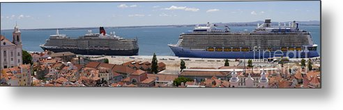 Lisbon Metal Print featuring the photograph Magnificent Cruises by Brenda Kean