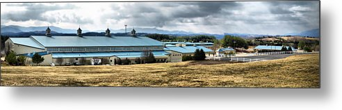Metal Print featuring the photograph Virginia Horse Center by Kathy Jennings