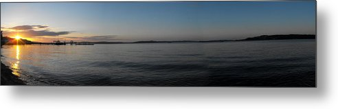 Tacoma Metal Print featuring the photograph Bay Sunset by Paulina Roybal