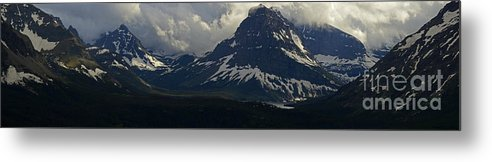 Rocky Mountains Metal Print featuring the photograph Glacier Storm Brewing by Randy Beacham