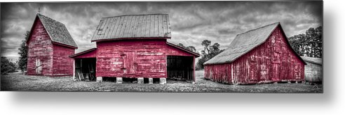 Windsor Castle Metal Print featuring the photograph Red Barns At Windsor Castle by Williams-Cairns Photography LLC