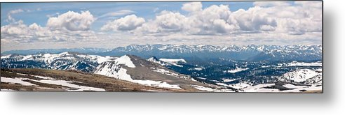 Beartooth Mountains Metal Print featuring the photograph The Beartooth Mountains by Rebecca Wineka