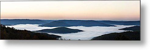 Sunrise Metal Print featuring the photograph 0710-0037 Sunrise At Firetower Road by Randy Forrester