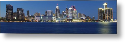 Detroit Metal Print featuring the photograph Detroit Stretches Out by Frozen in Time Fine Art Photography