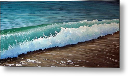 Wave On A Florida Beach Metal Print featuring the painting To the Shore by Hunter Jay