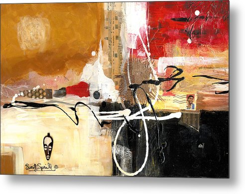 Everett Spruill Metal Print featuring the painting Cultural Abstractions - Hattie McDaniels by Everett Spruill