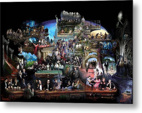 Icones Of History And Entertainment Metal Print featuring the mixed media Icons Of History And Entertainment by Ylli Haruni