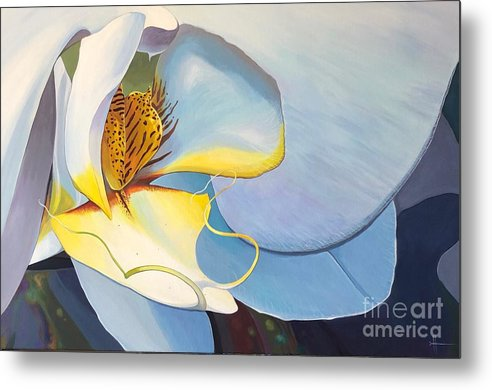 Orchid Metal Print featuring the painting All You Need is Now by Hunter Jay