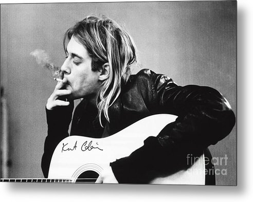 KURT COBAIN - SMOKING POSTER - 24x36 MUSIC GUITAR NIRVANA  by Trindira A