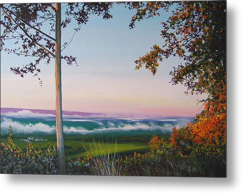 Landscape Metal Print featuring the painting September Sky by Hunter Jay