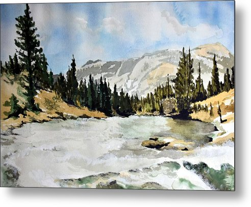 Metal Print featuring the painting National Parks landscape by Susan Moore