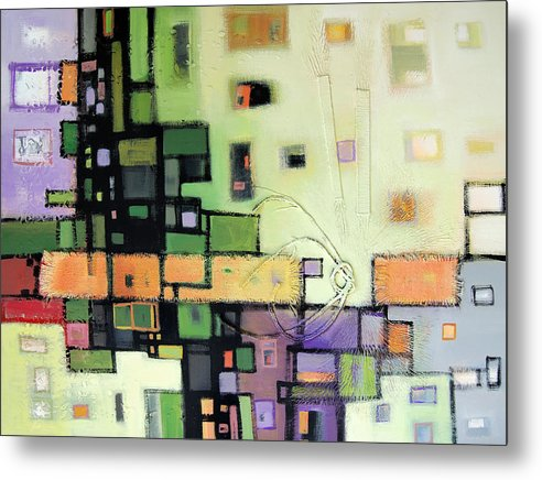 Metal Print featuring the painting Balance by Farhan Abouassali