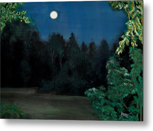 Moon Metal Print featuring the painting Moon Shadow by Susan Moore