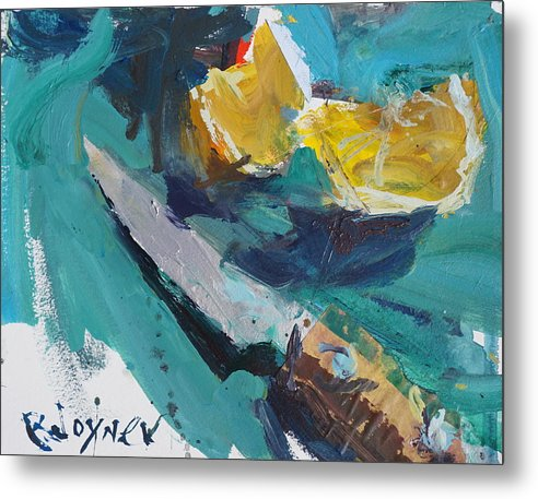 Lemon And Knife Still Life Painting by Robert Joyner