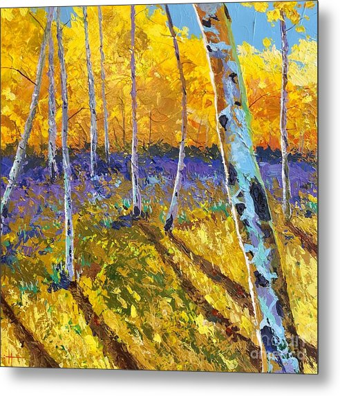 Aspen Metal Print featuring the painting All In The Golden Afternoon by Hunter Jay