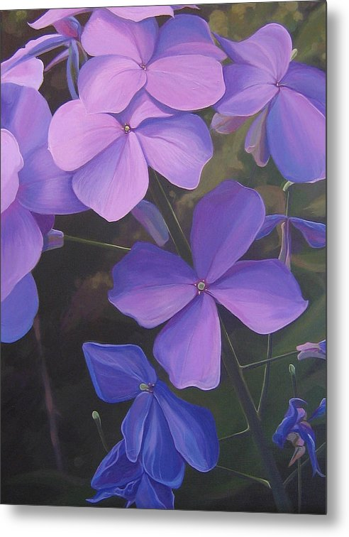 Closeup Of Colorado Wildflower Near Durango Metal Print featuring the painting Lush Life by Hunter Jay