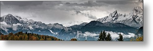 Extreme Terrain Metal Print featuring the photograph Panorama Of The Berchtesgaden Alps by Delectus