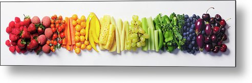 Cherry Metal Print featuring the photograph Fruit & Vegetable Color Wheel by David Malan