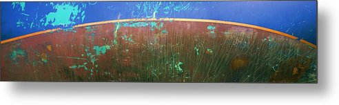 Blue Metal Print featuring the photograph Waterline by Ed Zirkle