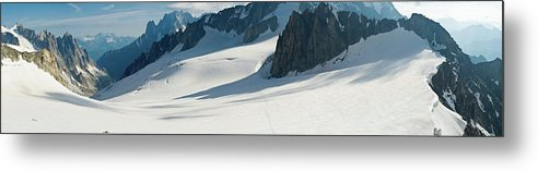 Scenics Metal Print featuring the photograph Alps Mont Blanc Vall&233e Blanche by Fotovoyager